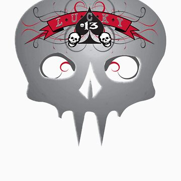 Lucky 13 Skull by MOC2