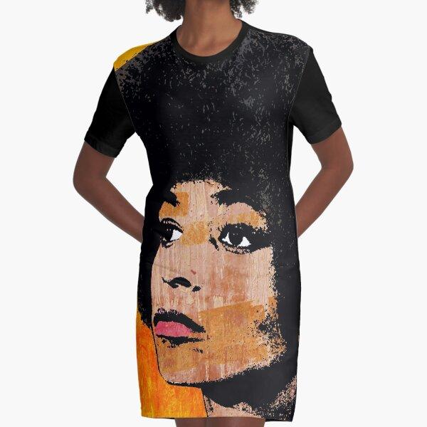 ANGELA DAVIS (COLOR) Graphic T-Shirt Dress