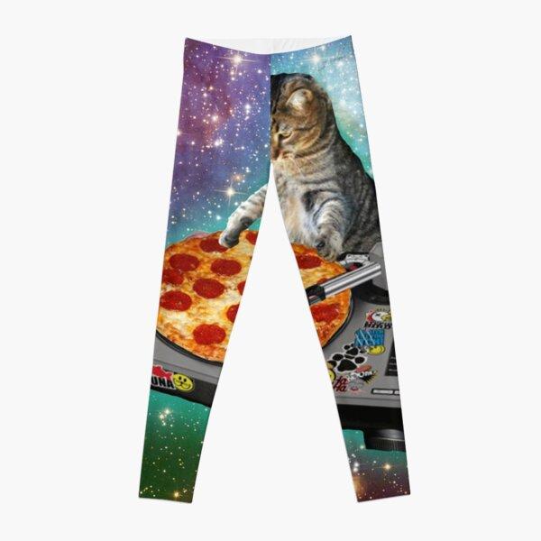 DJ CAT pizza Leggings