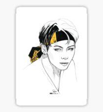 Yellow Bandana Tae Sticker