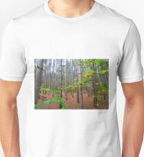 Stand of Pine Tree Forest on Pierce Stocking Drive within Sleeping Bear Dunes Unisex T-Shirt
