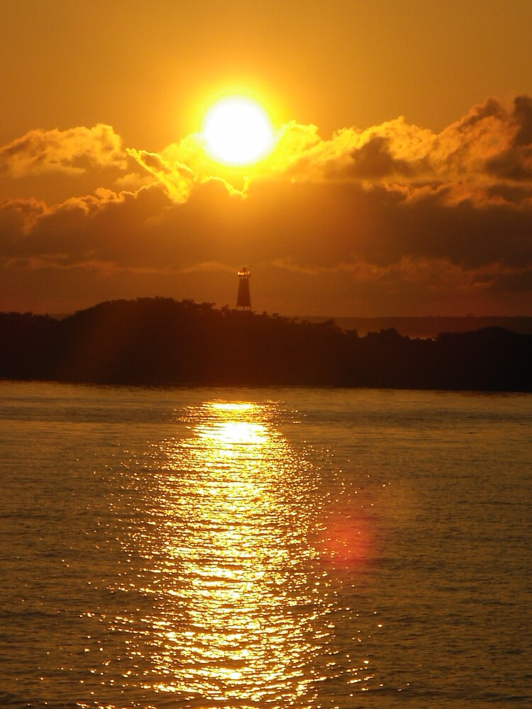 Lighthouse Sunset by LauraM