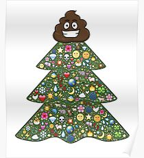 Christmas Tree Emoji: Posters | Redbubble