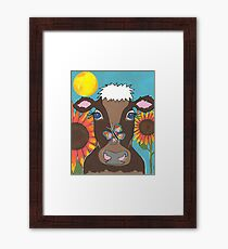 Brown Cow Framed Print