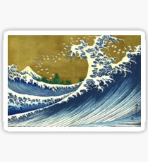 HOKUSAI, A Coloured Version Of, The Big Wave, Japan, Japanese Sticker