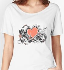 floral heart Women's Relaxed Fit T-Shirt