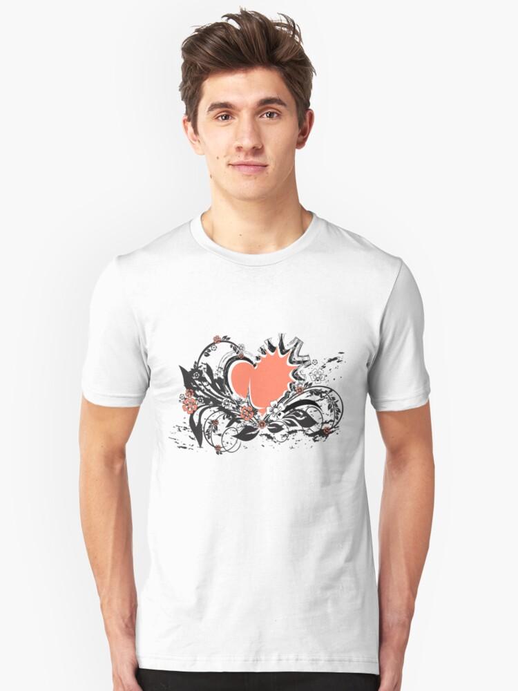 floral heart Unisex T-Shirt Front