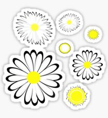 Jeans and Daisy Pattern Sticker
