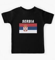 Serbia National Sports Design - Distressed Srbija Flag Kids Clothes