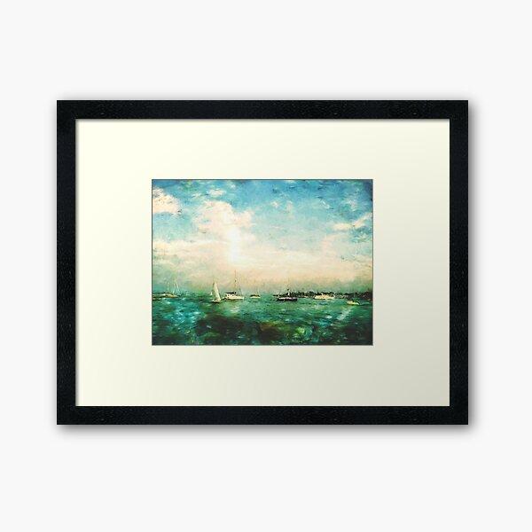 NAVY PIER Framed Art Print