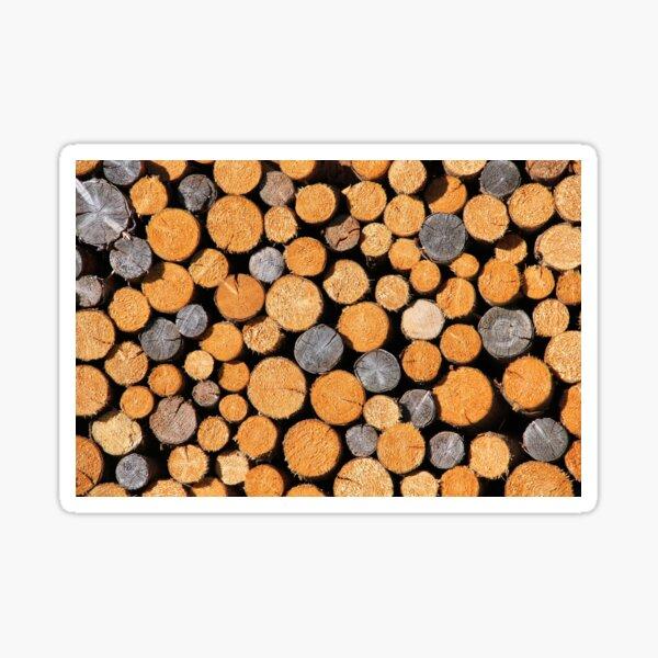 Wooden logs Sticker