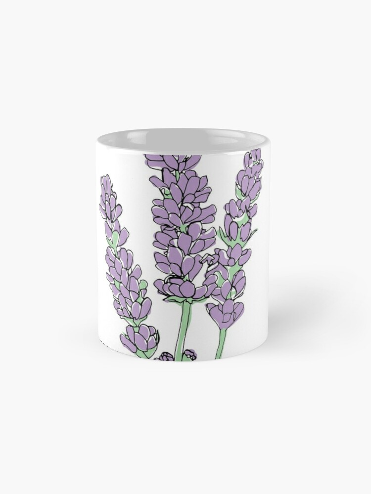Alternative Ansicht von Lavendel-Illustration Tasse