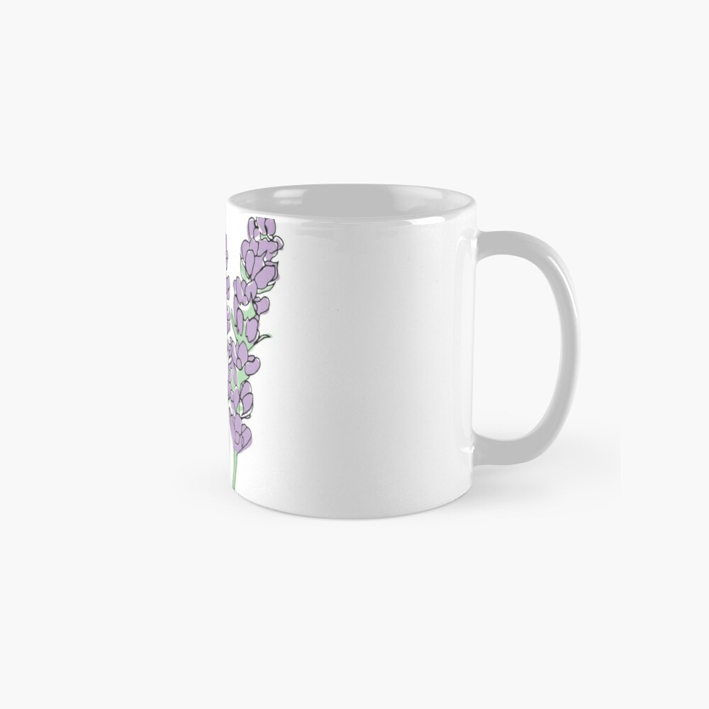 Lavendel-Illustration Tasse