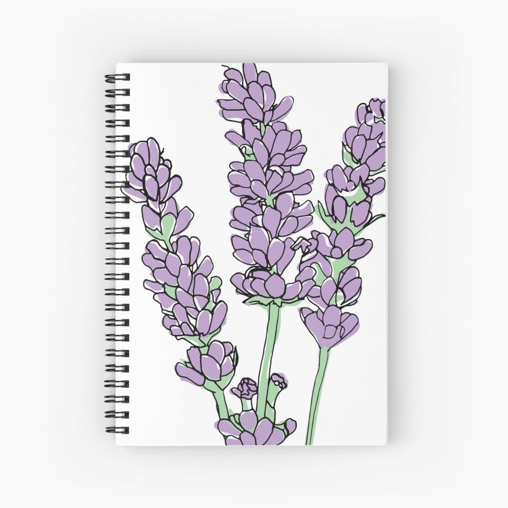 Lavendel-Illustration Spiralblock
