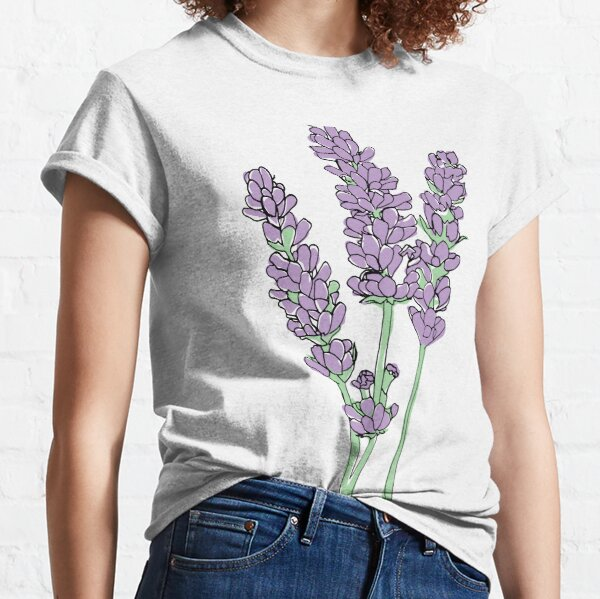 Lavender Illustration Classic T-Shirt