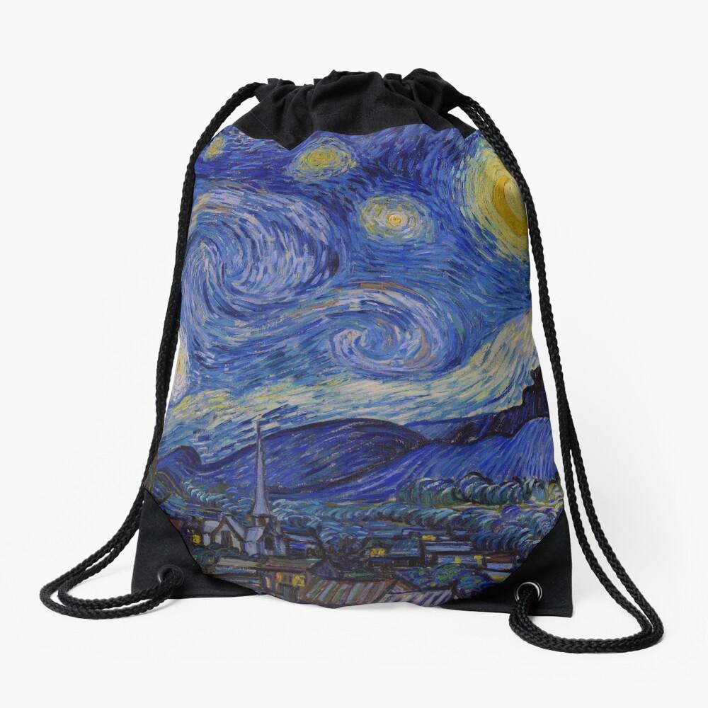 The Starry Night by Vincent van Gogh (1889) Drawstring Bag