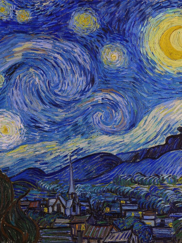 The Starry Night by Vincent van Gogh (1889) by allhistory