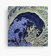 HOKUSAI, Feminine, wave, Japan, Japanese, Print, woodcut Canvas Print