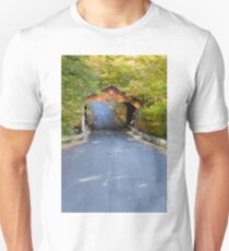 Pierce Stocking Drive Covered Bridge at Sleeping Bear Dunes, Michigan Unisex T-Shirt