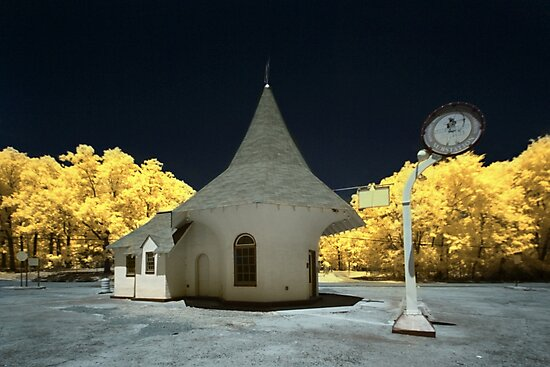 Roundtop Filling Station Sherwood, AR - infrared by mal-photography