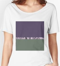 purple pastel gray abstract landscape Women's Relaxed Fit T-Shirt