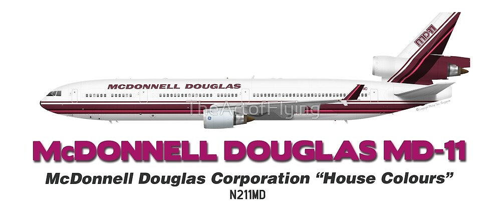 "McDonnell Douglas MD-11 - McDonnell Douglas Corporation ""House Colours"" by TheArtofFlying"