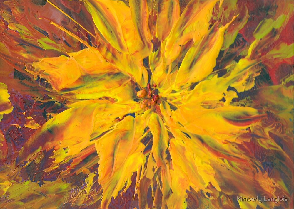 golden starburst flower by Kimberly Langlois