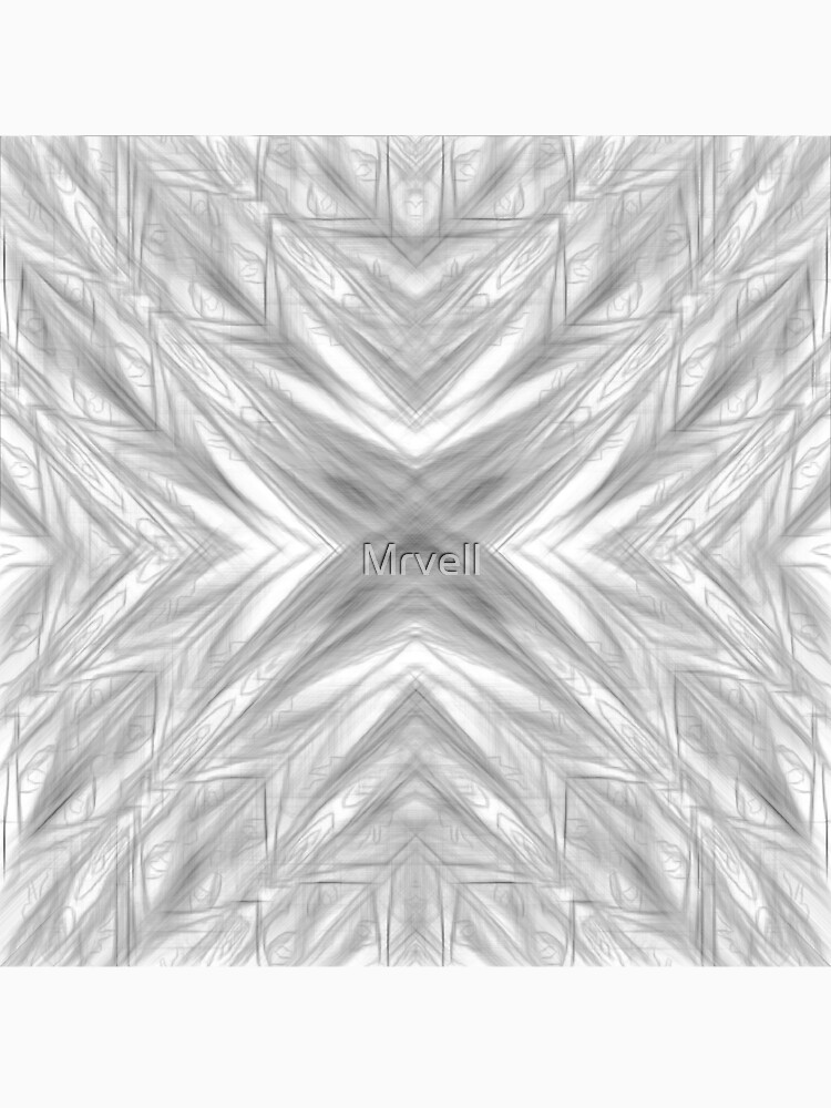 psychedelic drawing symmetry graffiti art abstract pattern in black and white by Mrvell
