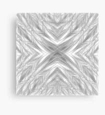 psychedelic drawing symmetry graffiti art abstract pattern in black and white Canvas Print