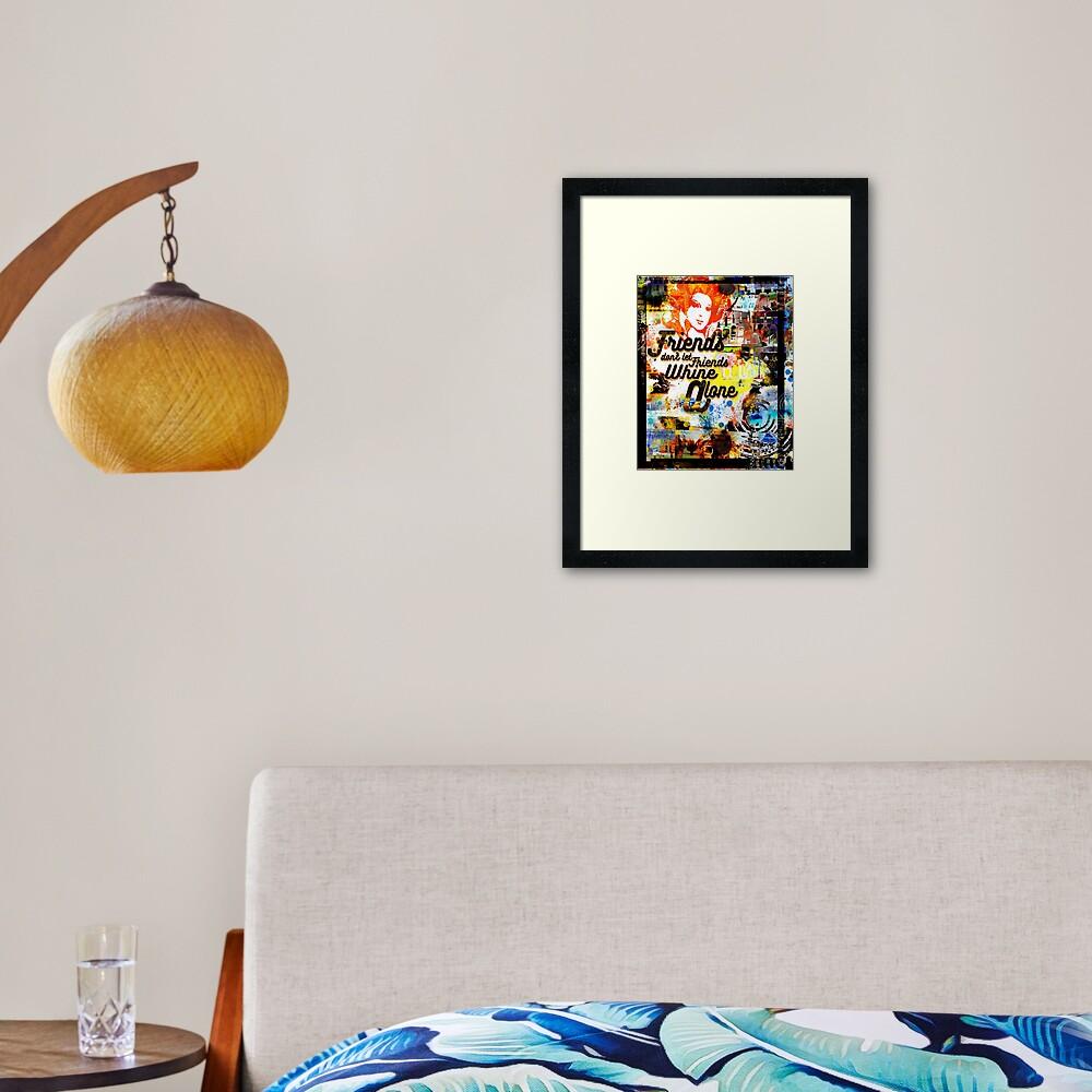 WHINE ALONE Framed Art Print