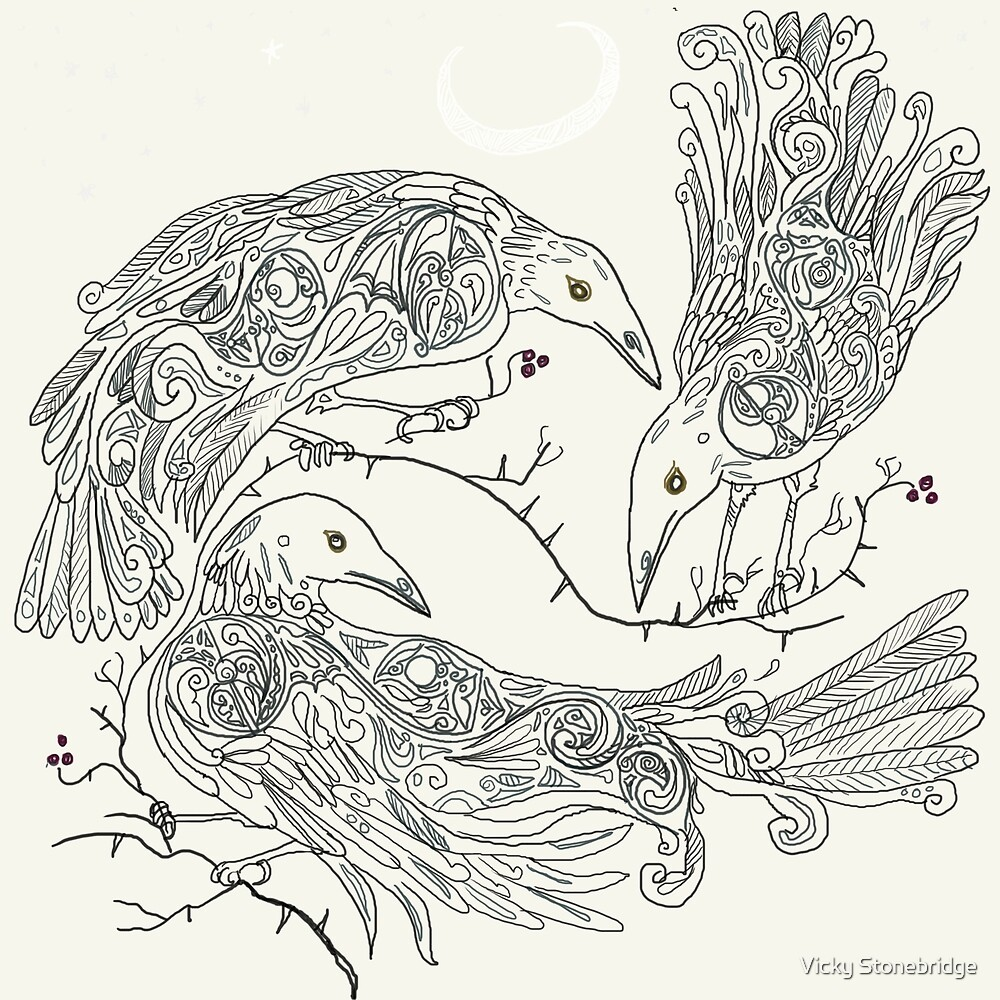 Three Crows by Vicky Stonebridge