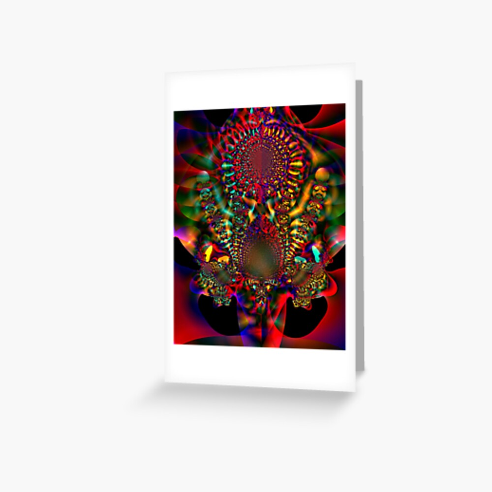 Red Flowers Greeting Card