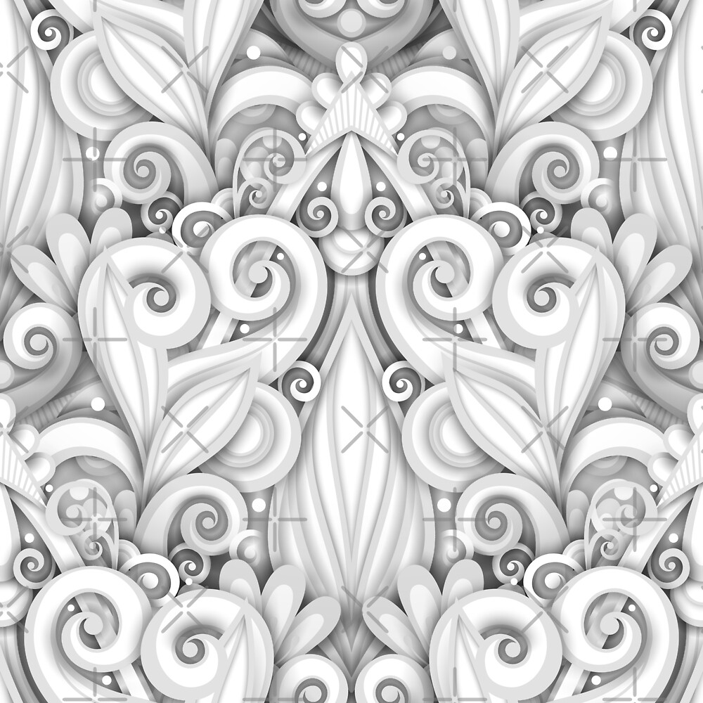 Pattern with Floral Ornament by lissantee