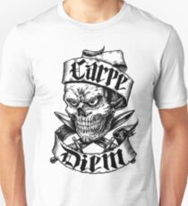 Carpe Diem Skull with Daggers Unisex T-Shirt