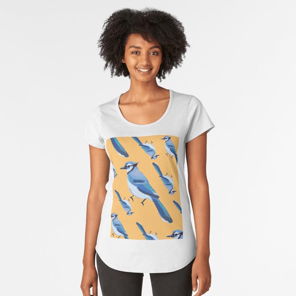 BABY BLU3 JAY COLLAGE Women's Premium T-Shirt Front