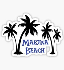 Makena Beach Maui Sticker