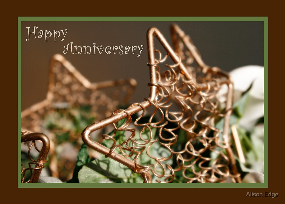 Anniversary Card by Alison Edge