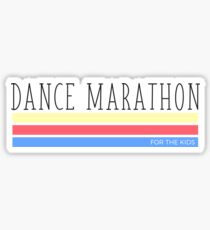 Dance Marathon Tricolored Blocks Sticker