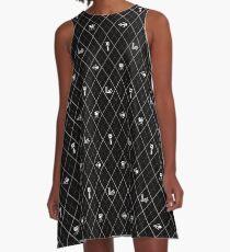 Black Celebration Argyle A-Line Dress