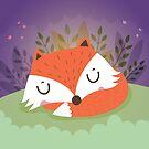 Sleeping fox by mjdaluz