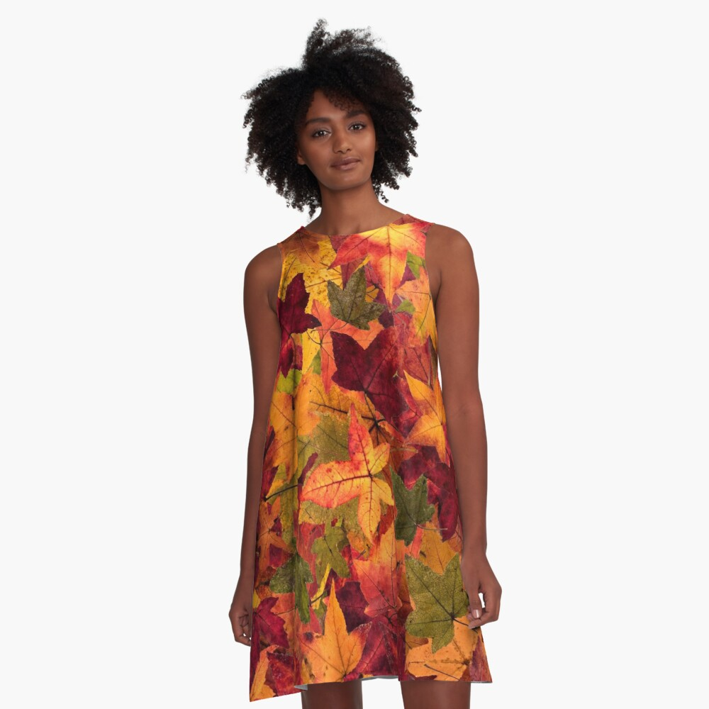 fall A-Line Dress Front