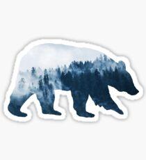 Wild Bear in Forest Sticker