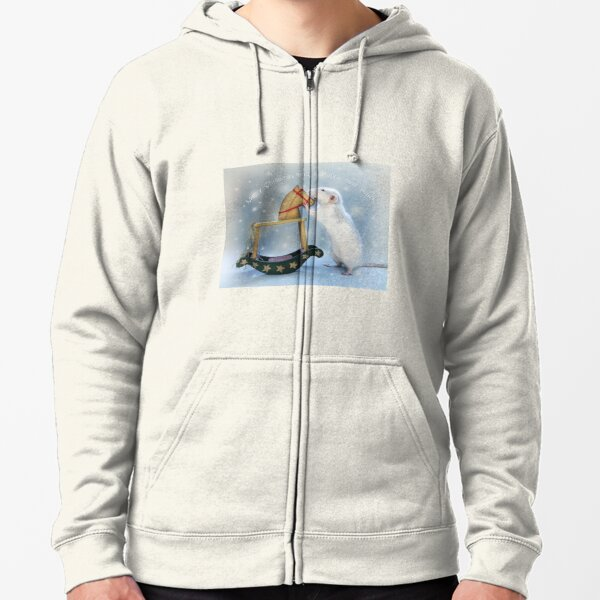 Merry Christmas and Happy new year! Zipped Hoodie