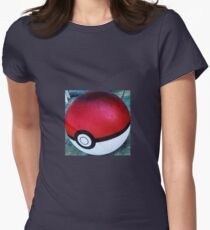Pokemon Ball Womens Fitted T-Shirt