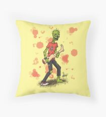 Zombie Rock Throw Pillow