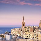 Sunset over Valletta by Kasia-D