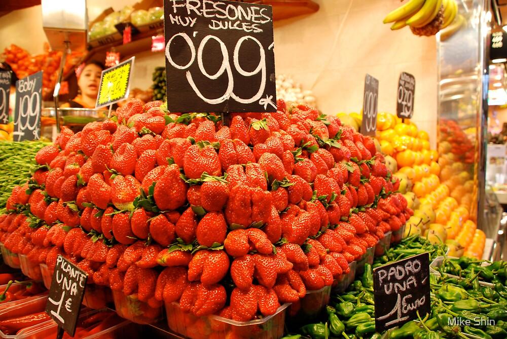 Mutant strawberries by Mike Shin