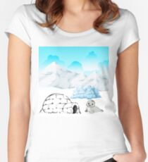 Seal Scene Women's Fitted Scoop T-Shirt