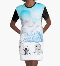 Seal Scene Graphic T-Shirt Dress