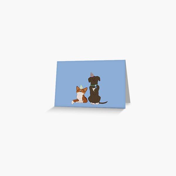Birthday Pups Greeting Card